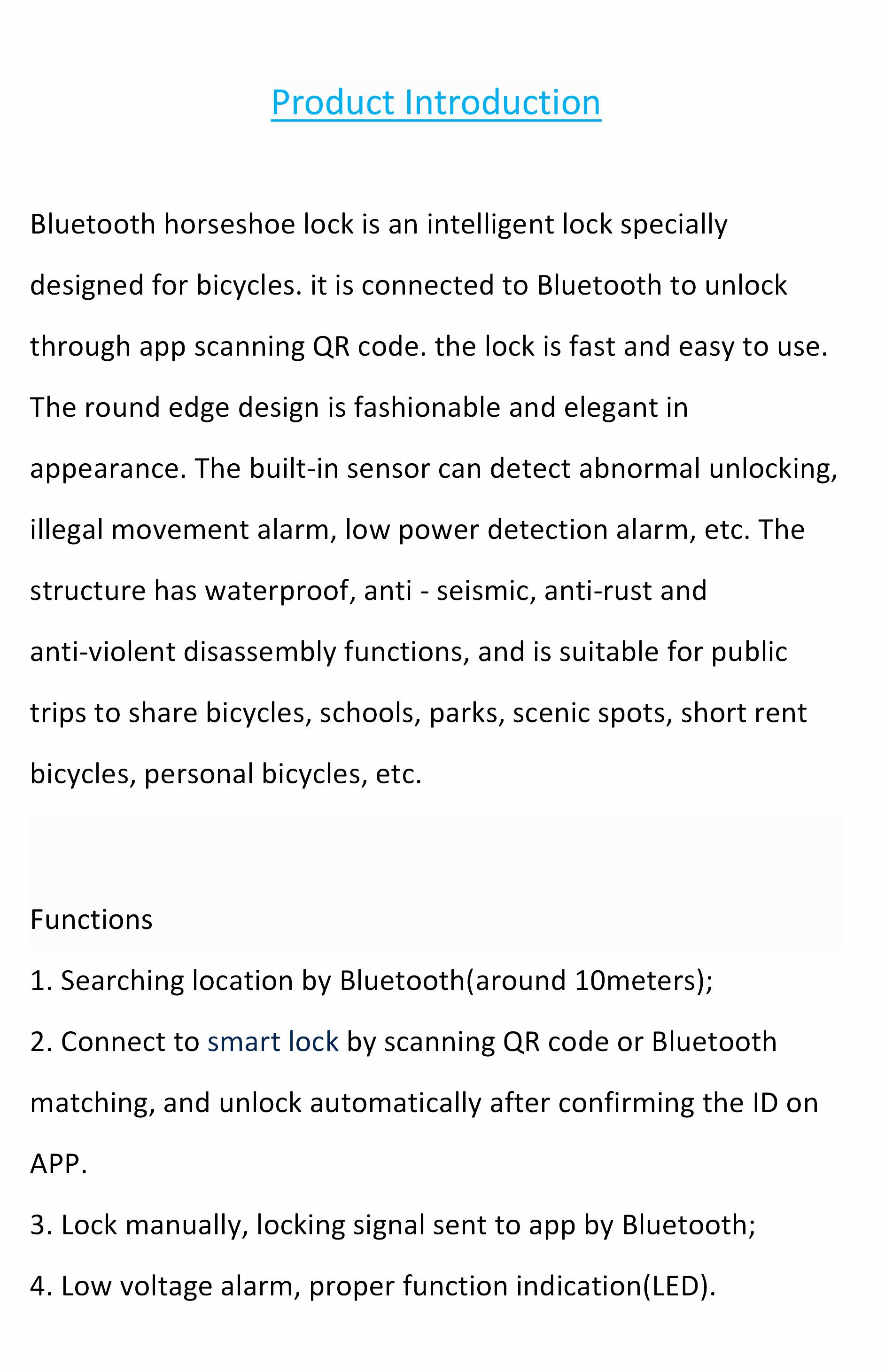 Microsoft Word - Shared bicycle lock.doc